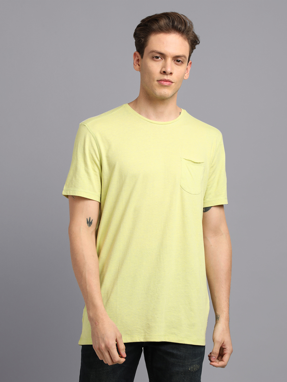 UrGear | UrGear Solid Men Round  Neck Green T-Shirt