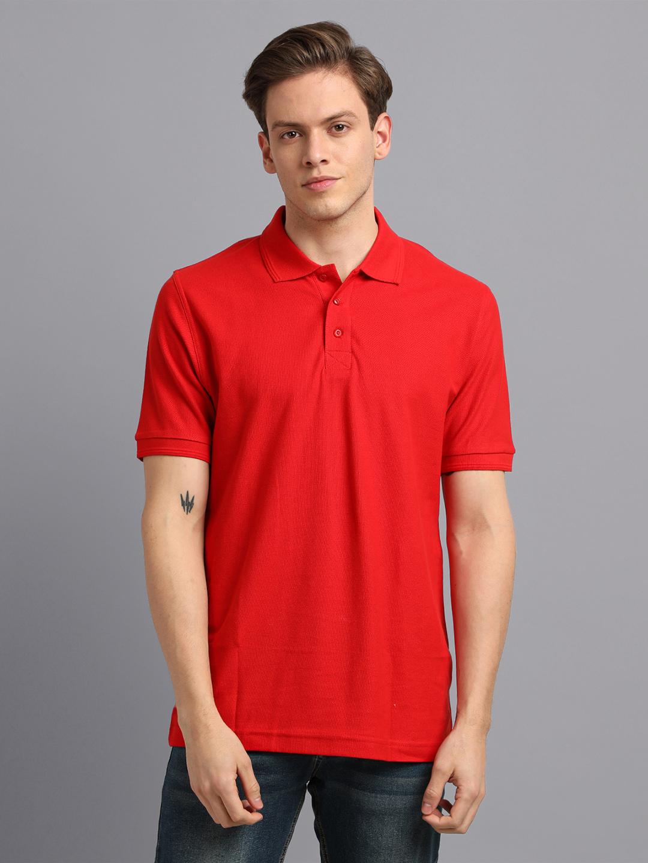 UrGear | UrGear Solid Men Polo  Neck  Red T-Shirt