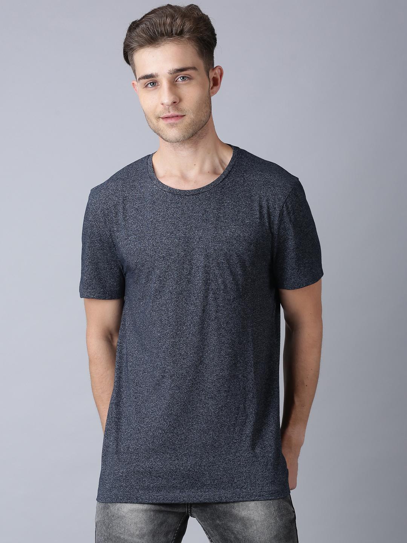 UrGear | UrGear Solid Men Round Neck GreyT-Shirt