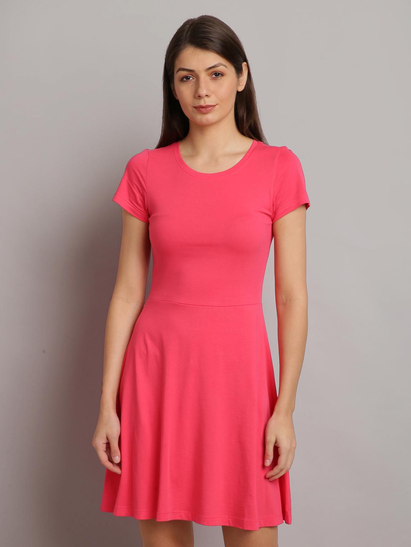 UrGear | UrGear Women Drop Waist Pink Dress
