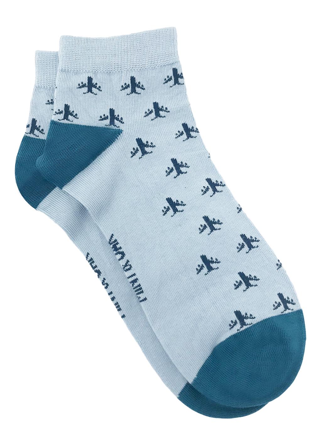 Mint & Oak | Mint & Oak Fly Away Blue Ankle Length Socks for Men