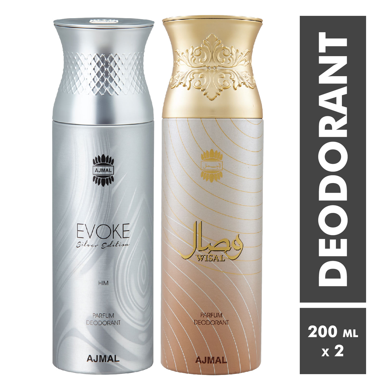 Ajmal | Evoke and Wisal Deodorant Spray - Pack of 2