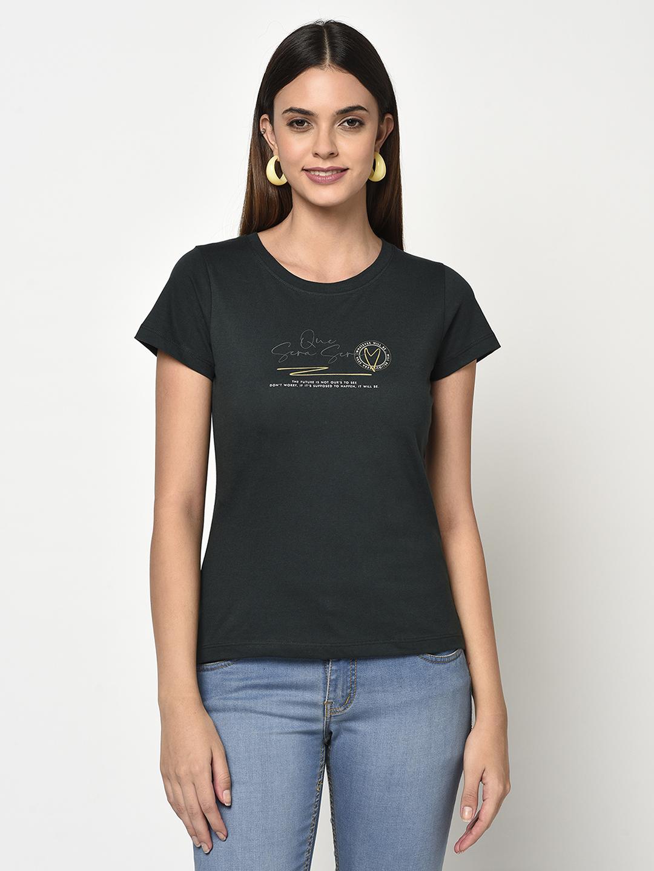 METTLE   Women MOUNTAIN GREEN T-Shirts