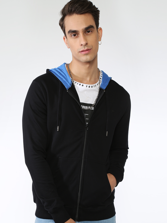 Blue Saint | Blue Saint Men's Black Regular Fit Sweatshirts
