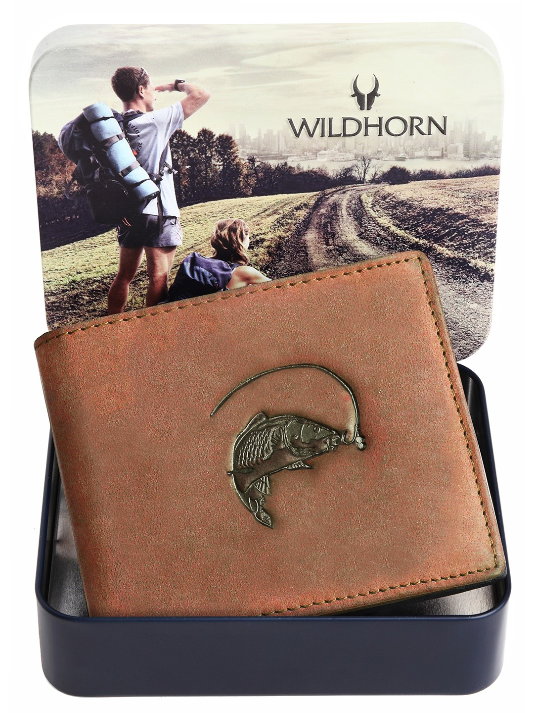 WildHorn   WildHorn RFID Protected Genuine High Quality Leather Brown Wallet for Men