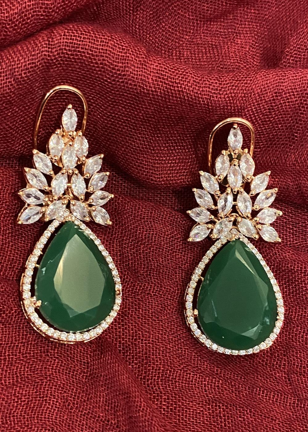 Swabhimann Jewellery | Swabhimann Jwellery Mayuki Studs Emerald