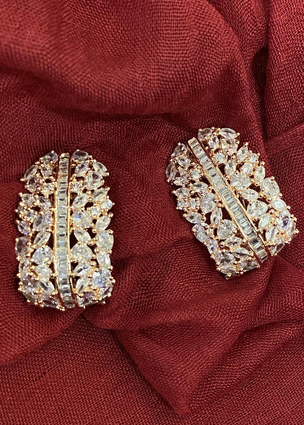 Swabhimann Jewellery | Swabhimann Jwellery Artica Studs Rose Gold