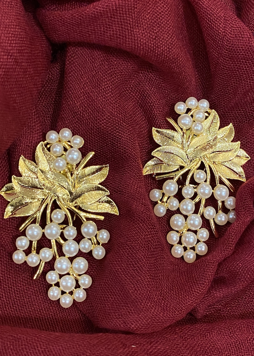 Swabhimann Jewellery | Swabhimann Jwellery Grapevine Bunch Studs Gold