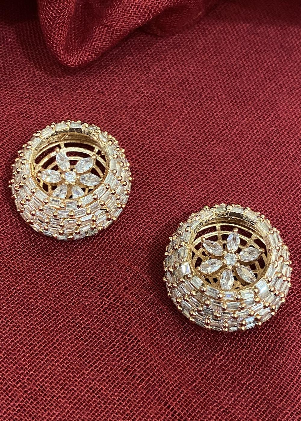 Swabhimann Jewellery | Swabhimann Jwellery Kamiara Zircon Flower Studs