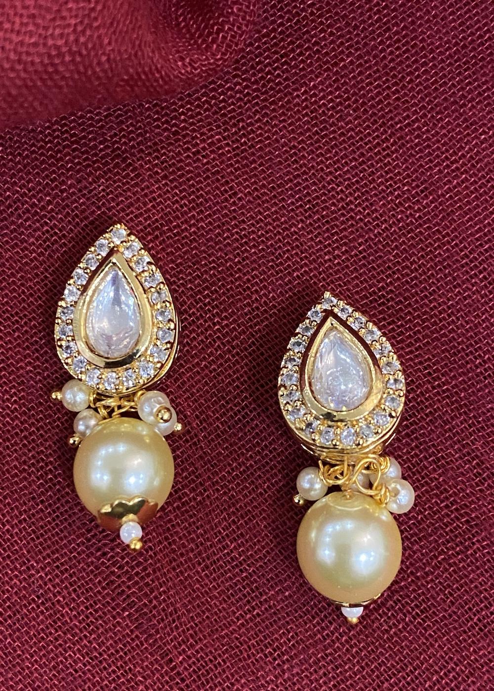 Swabhimann Jewellery | Swabhimann Jwellery Tara Kundan Pearl Studs