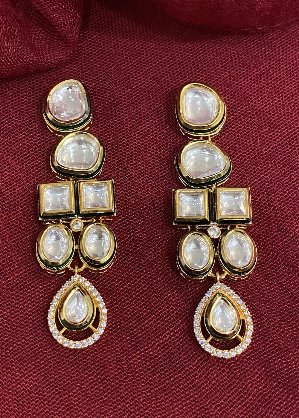 Swabhimann Jwellery | Swabhimann Jwellery Sarwani Polki Earrings