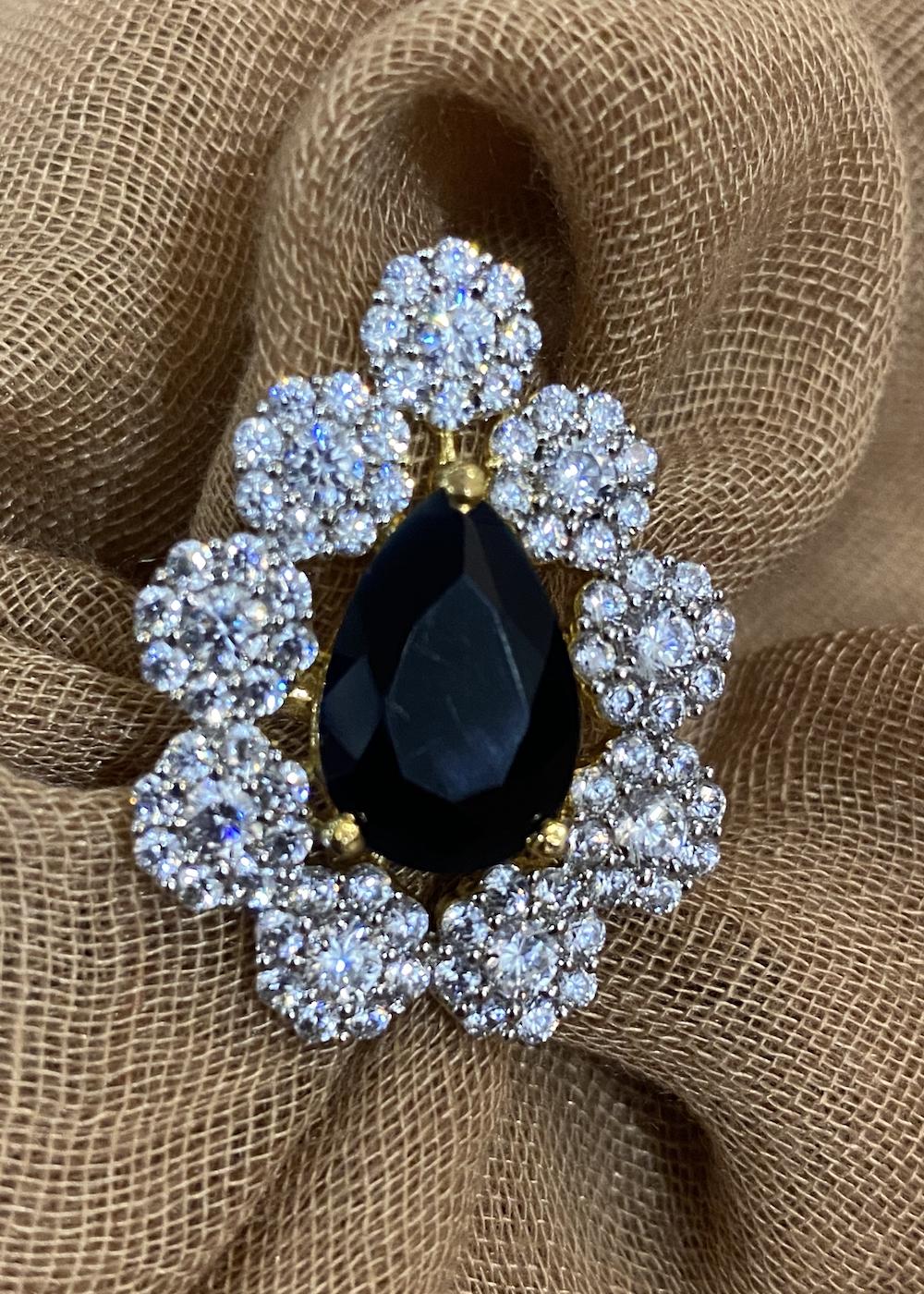 Swabhimann Jwellery | Swabhimann Jwellery Ameena Zircon Leaf Black Adjustable