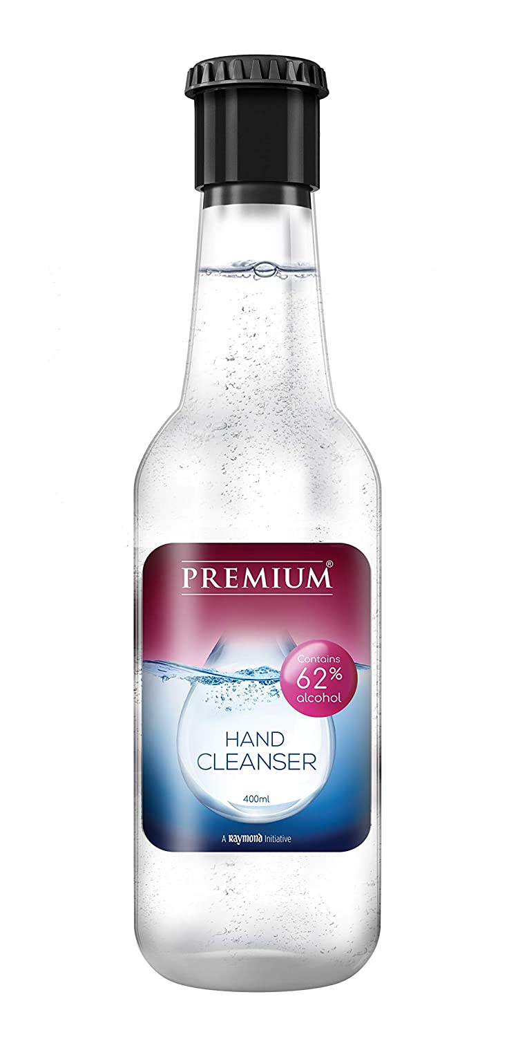 A Raymond Initiative | Raymond Premium Hand Cleanser 62% Alcohol content with Cologne fragrance from the house of Raymond - 400ml