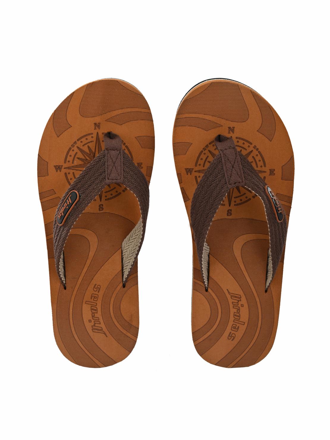 Hirolas | Hirolas Fabrication Laser design Flip-Flop Slippers - Tan