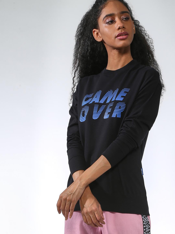 Blue Saint | Blue Saint Women's Black Regular Fit Sweatshirts