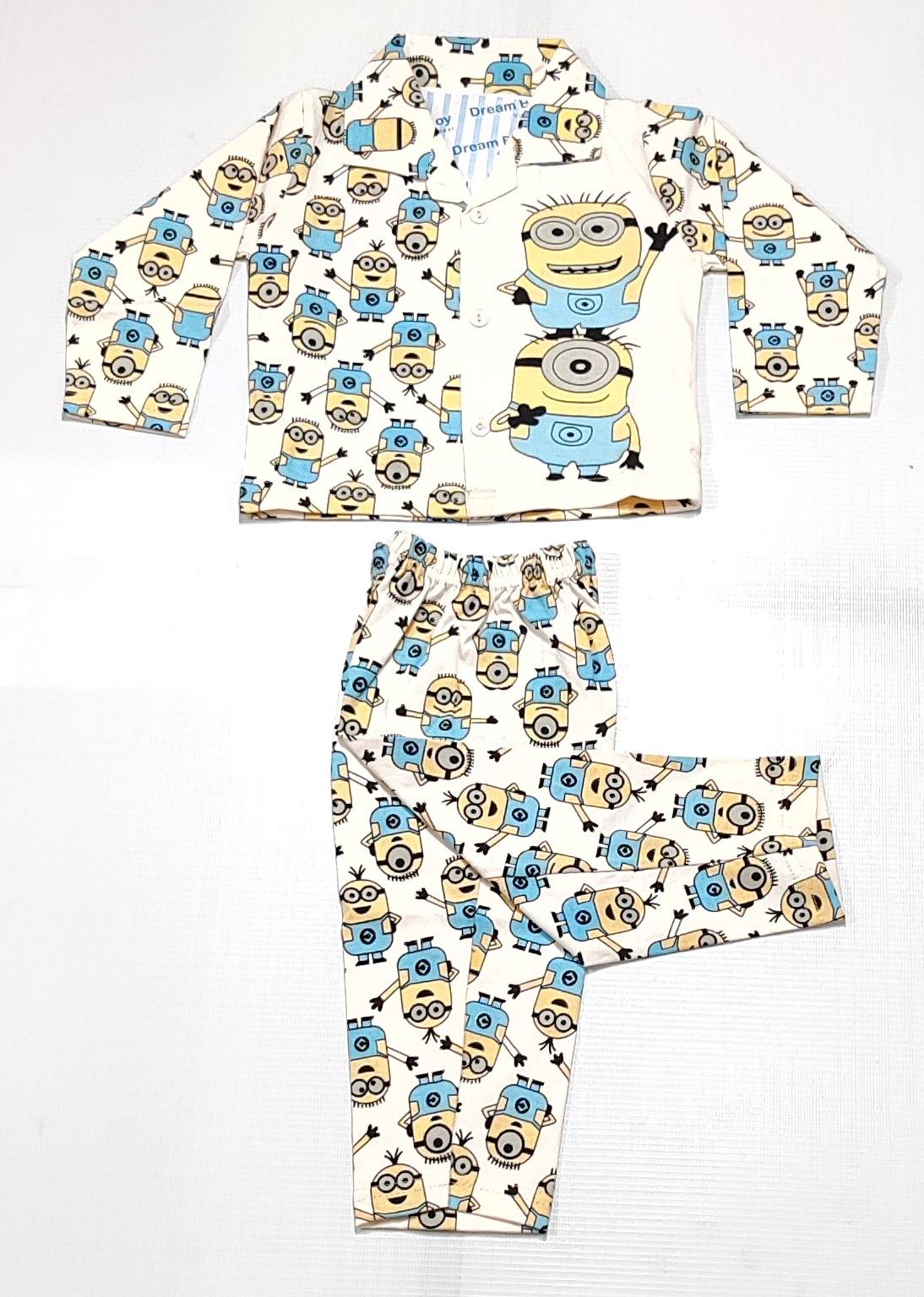AAAKAR | Boy's Full Sleeves Pyjama Set Minions Printed