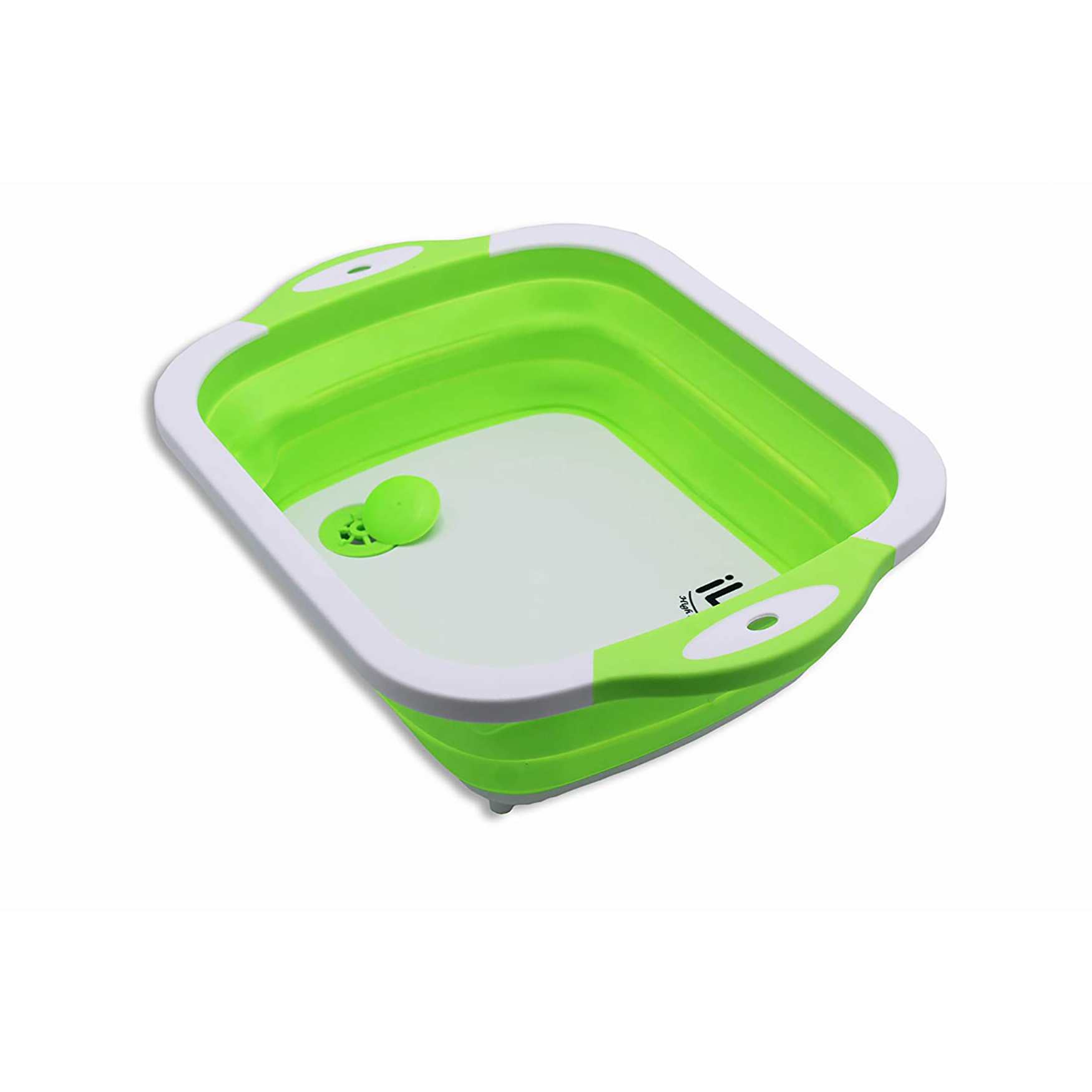 iLife   iLife Collapsible Cutting Board with Colander, 4-in-1 Multi-function Foldable Kitchen Plastic Silicone Dish Tub Drainers, Sink Storage Washing Draining Basket for Fruits/Vegetables