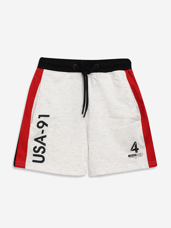 OCTAVE | Boys WHITE MELANGE Shorts