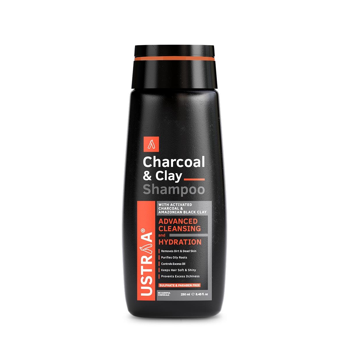 Ustraa | Shampoo - Charcoal & Clay - 250ml
