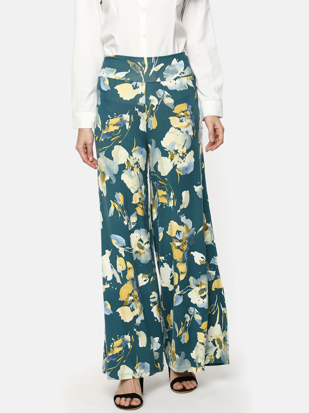 Y CAN F | YCANF Women's Casual Multicoloured Palazzos
