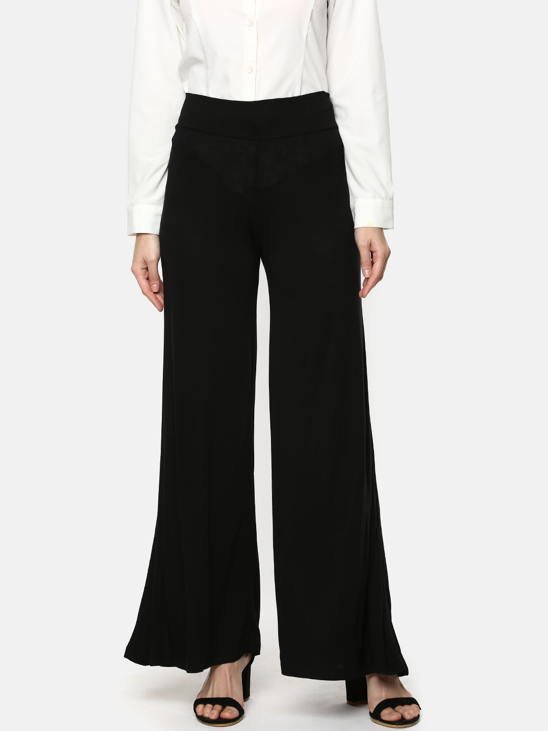 Y CAN F | YCANF Women's Casual Black Palazzos