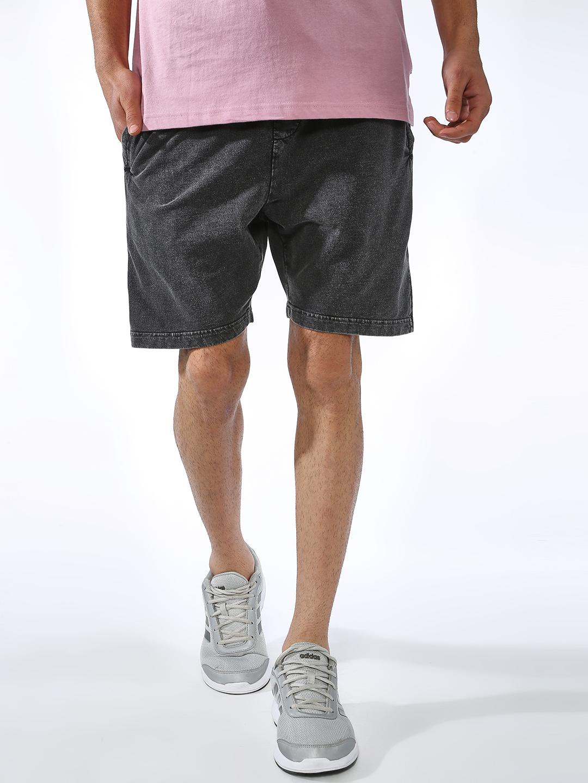 Blue Saint | Blue Saint Men's Black Slim Fit Shorts