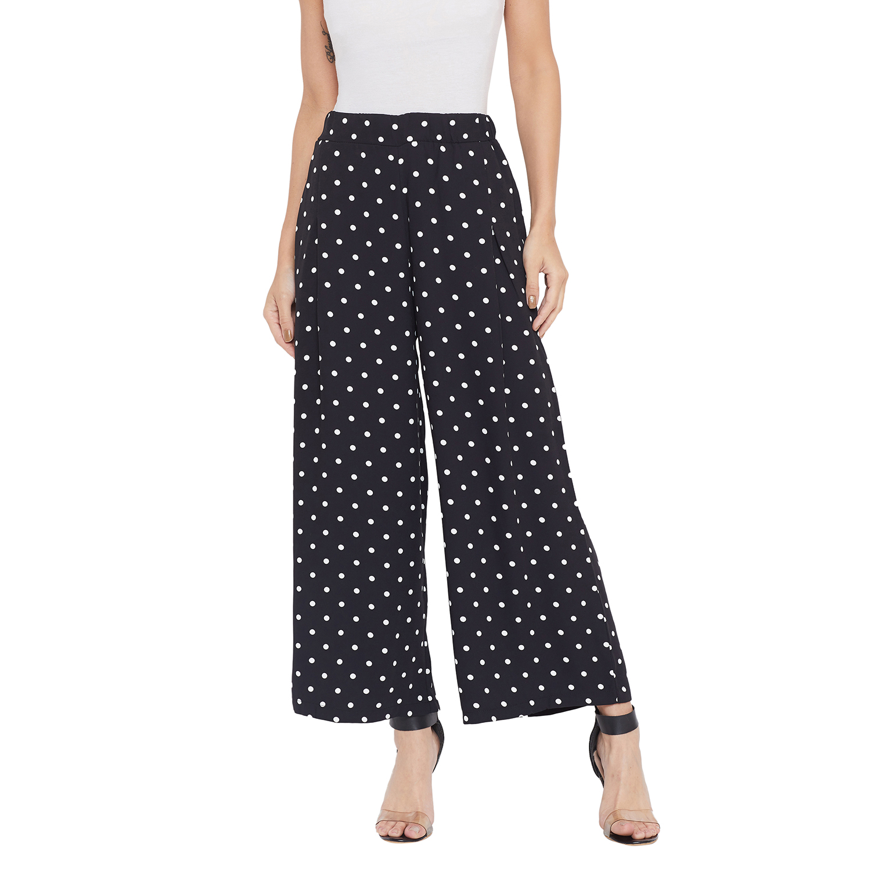 Crimsoune Club | Crimsoune Club Womens Black Printed Parallel Trousers