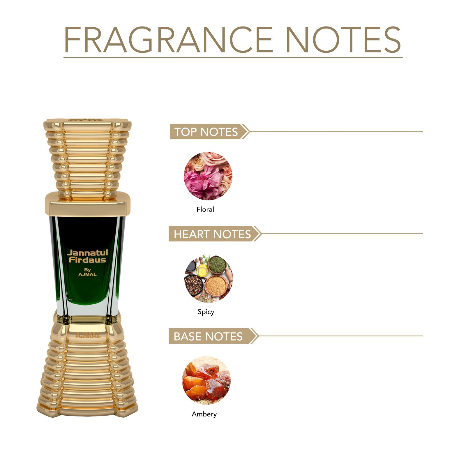 Ajmal | Ajmal Jannatul Firdaus Concentrated Perfume Oil Oriental Alcohol-free Attar 10ml for Unisex and Wisal Deodorant Floral Musky Fragrance 200ml for Women + 2 Parfum Testers FREE