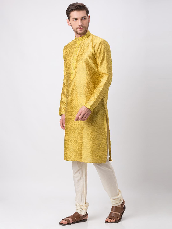 Ethnicity   Ethnicity Yellow Polyester Blend Kp Set