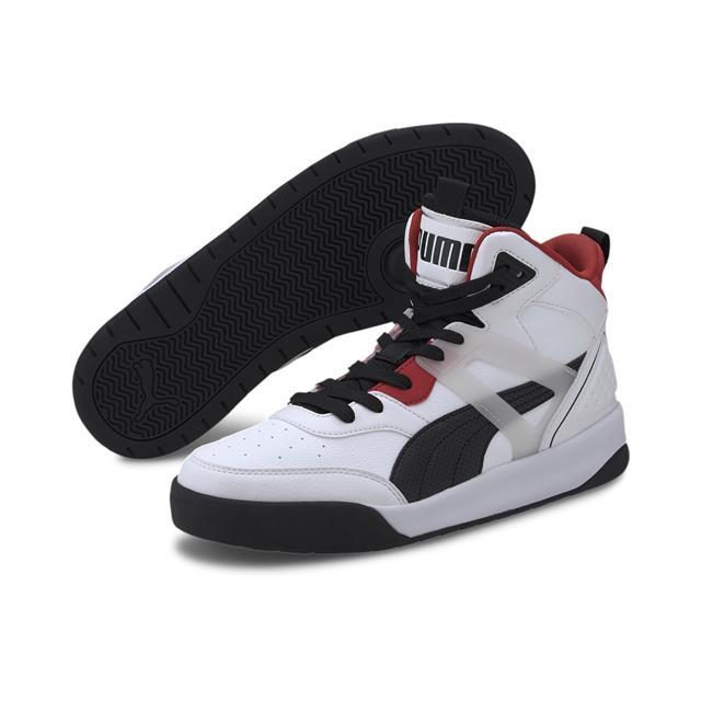 Puma | Puma Puma Backcourt Mid Puma White-Puma Black Lifestyle Shoe