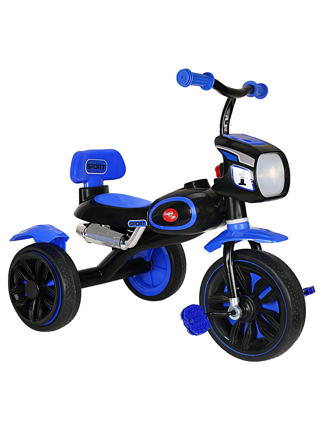 CREATURE | Creature Blue Harley Tricycle Ride-On Cars Toy Vehicle for Kids