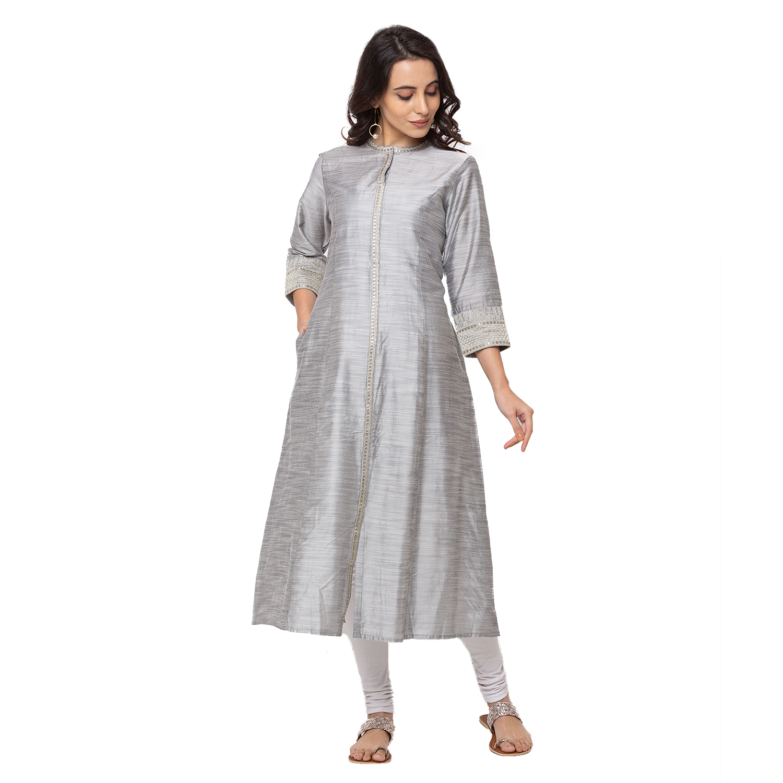 Ethnicity | Grey Ethnicity Polyester women Kurta