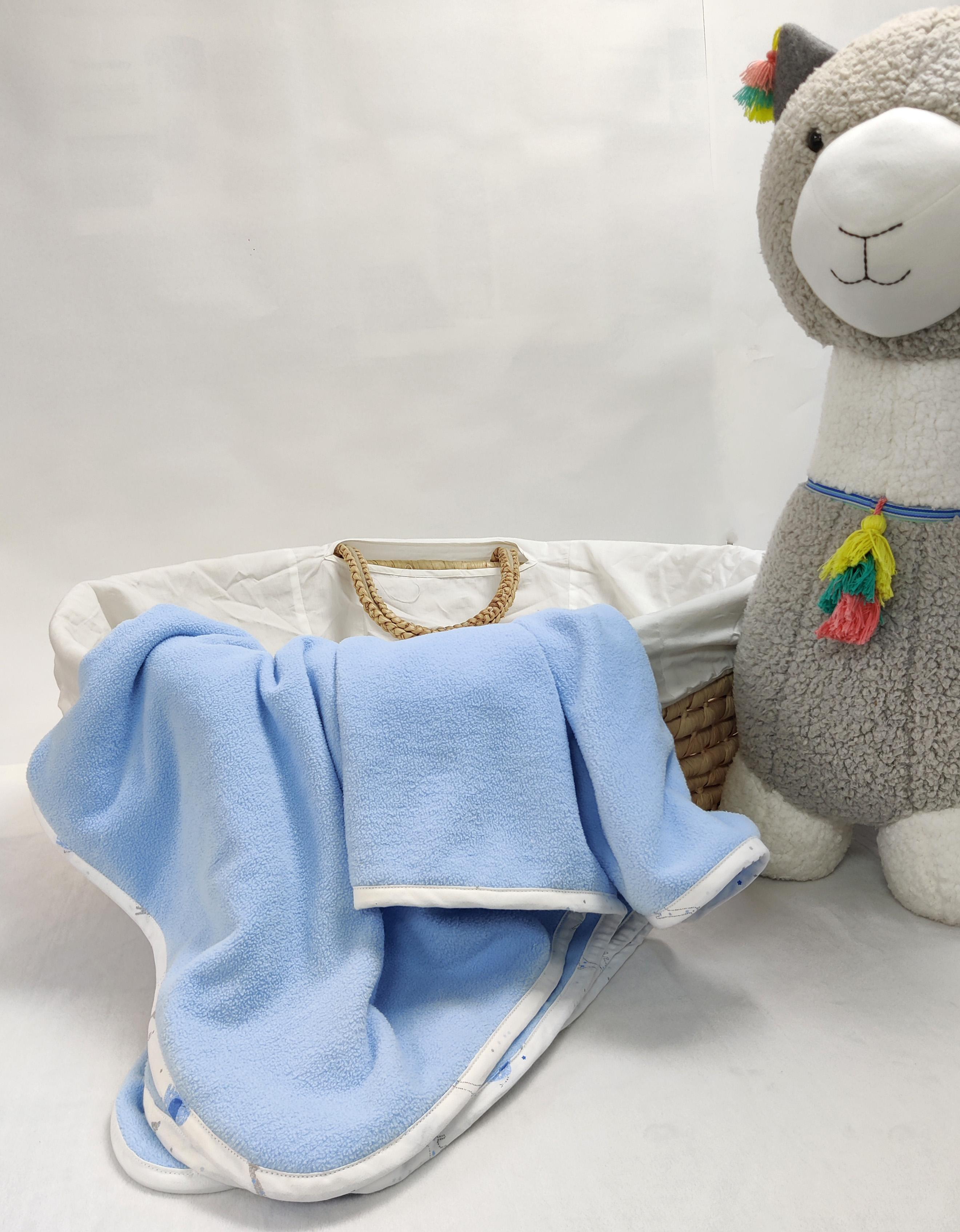 Mothercare | Shooting Star Fleece Baby Blanket Blue