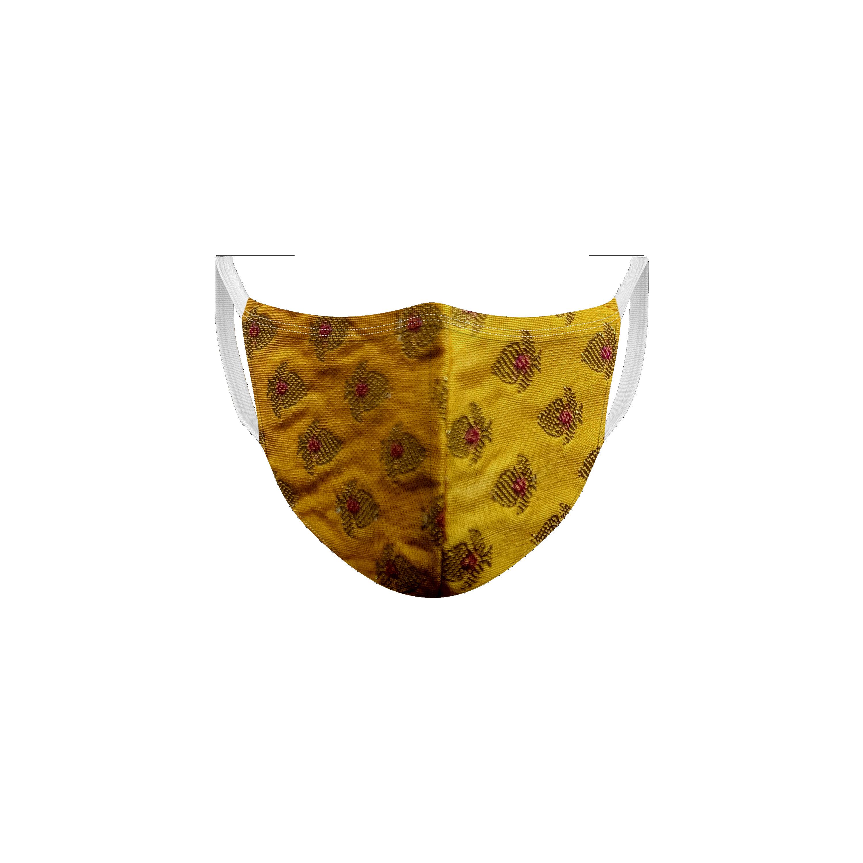 Ethnicity | Ethnicity Yellow_Maroon pack of 2 Women fashion mask
