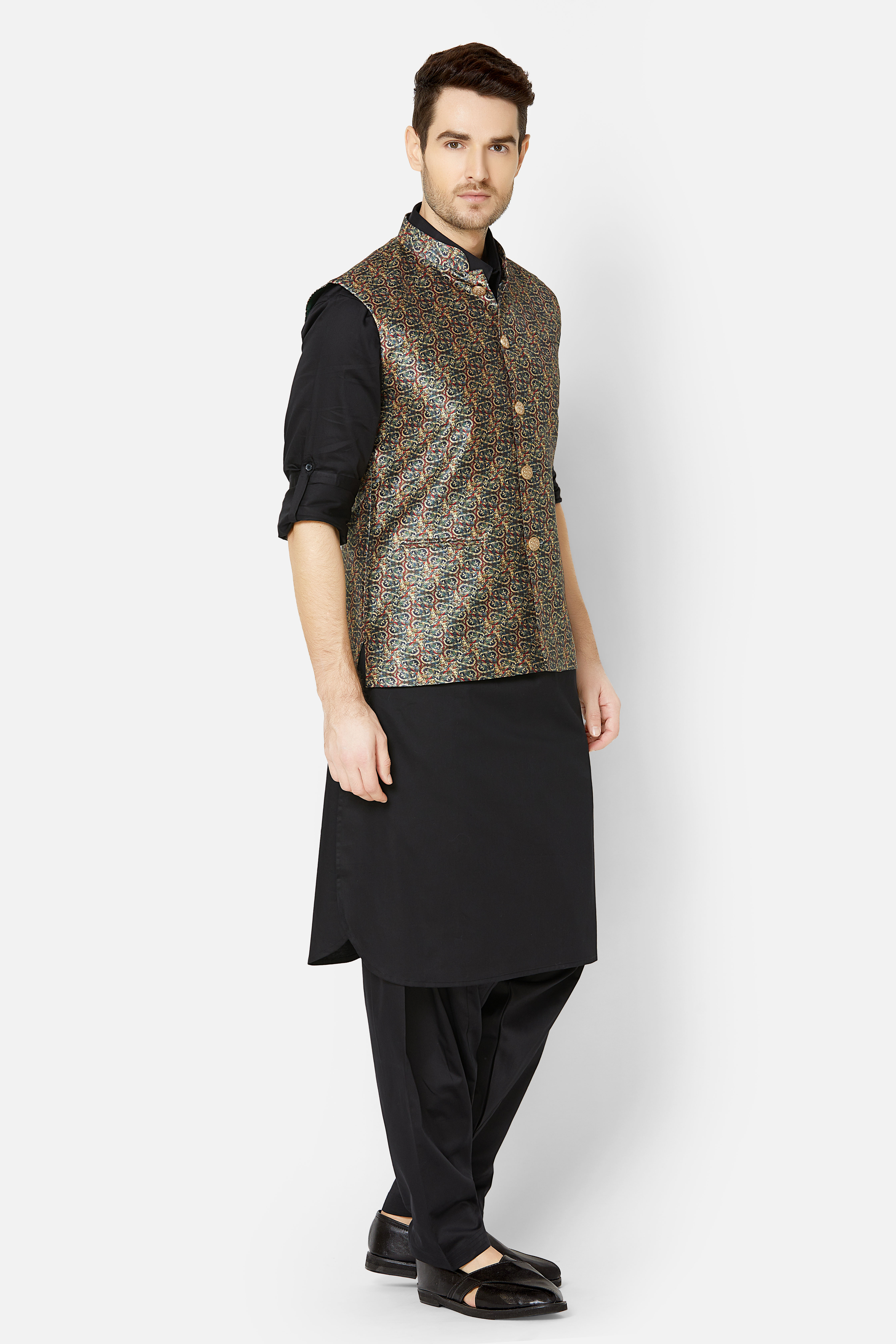 Ethnicity | Multi Printed sleeveless jacket