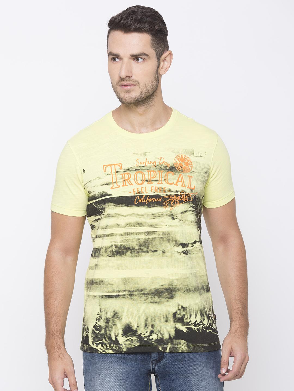 Spykar | spykar Green Cotton Activewear T-Shirts