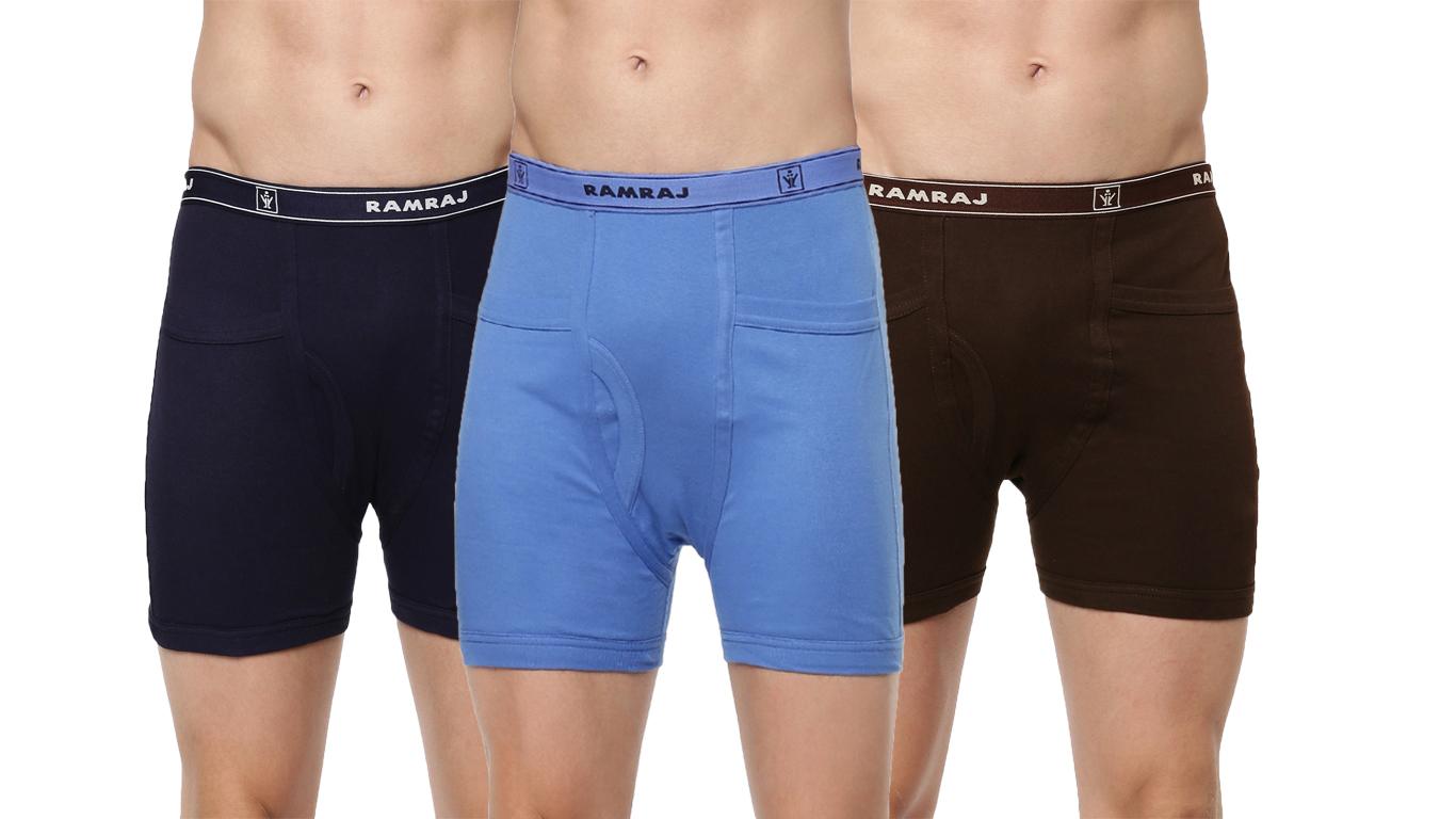 Ramraj Cotton | Ramraj Cotton 100% Soft combed fine jersey fabric Assorted Trunks (Combo 3)