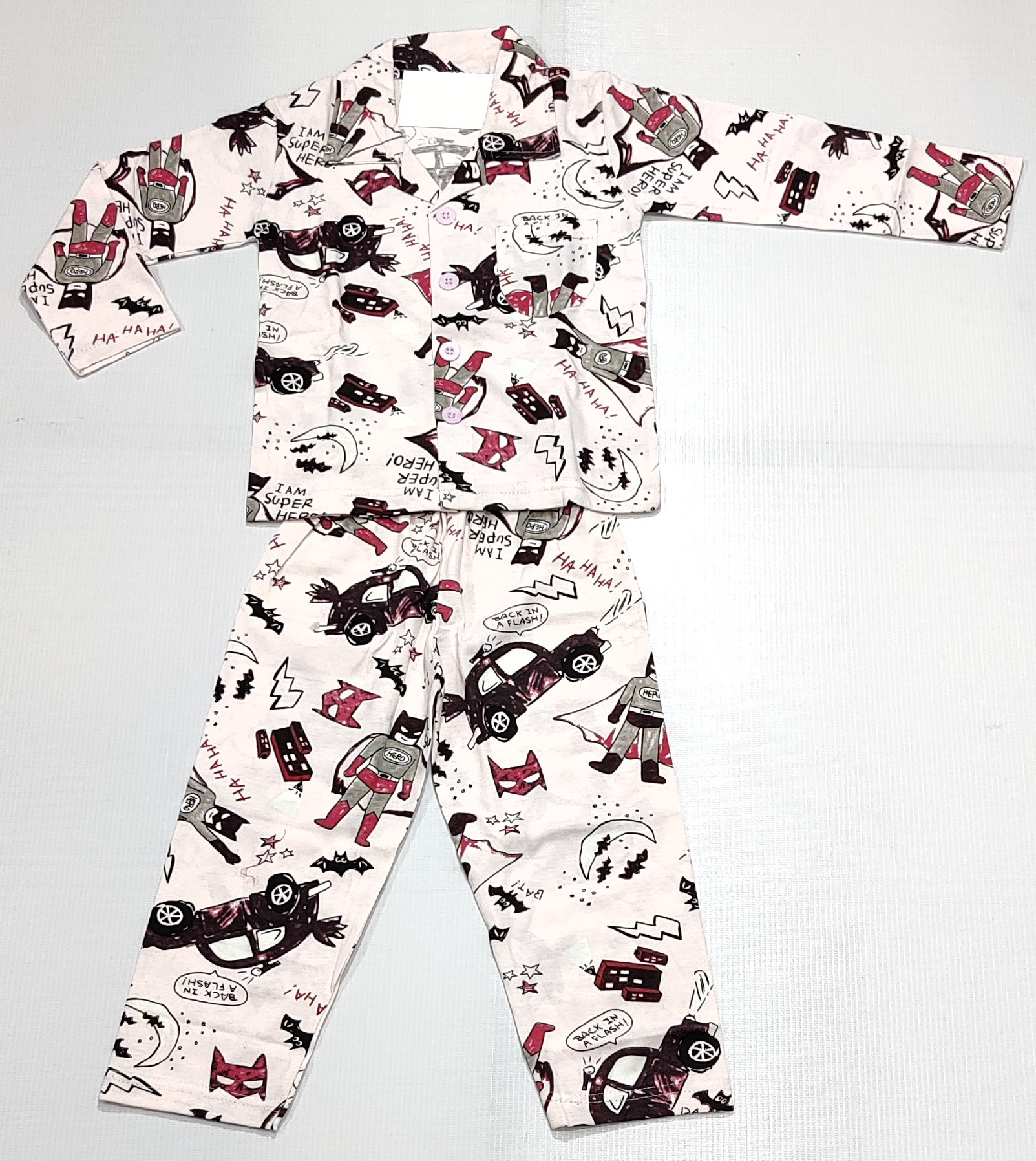 AAAKAR | Peach Graphic Printed Cotton Blend NightSuit Set