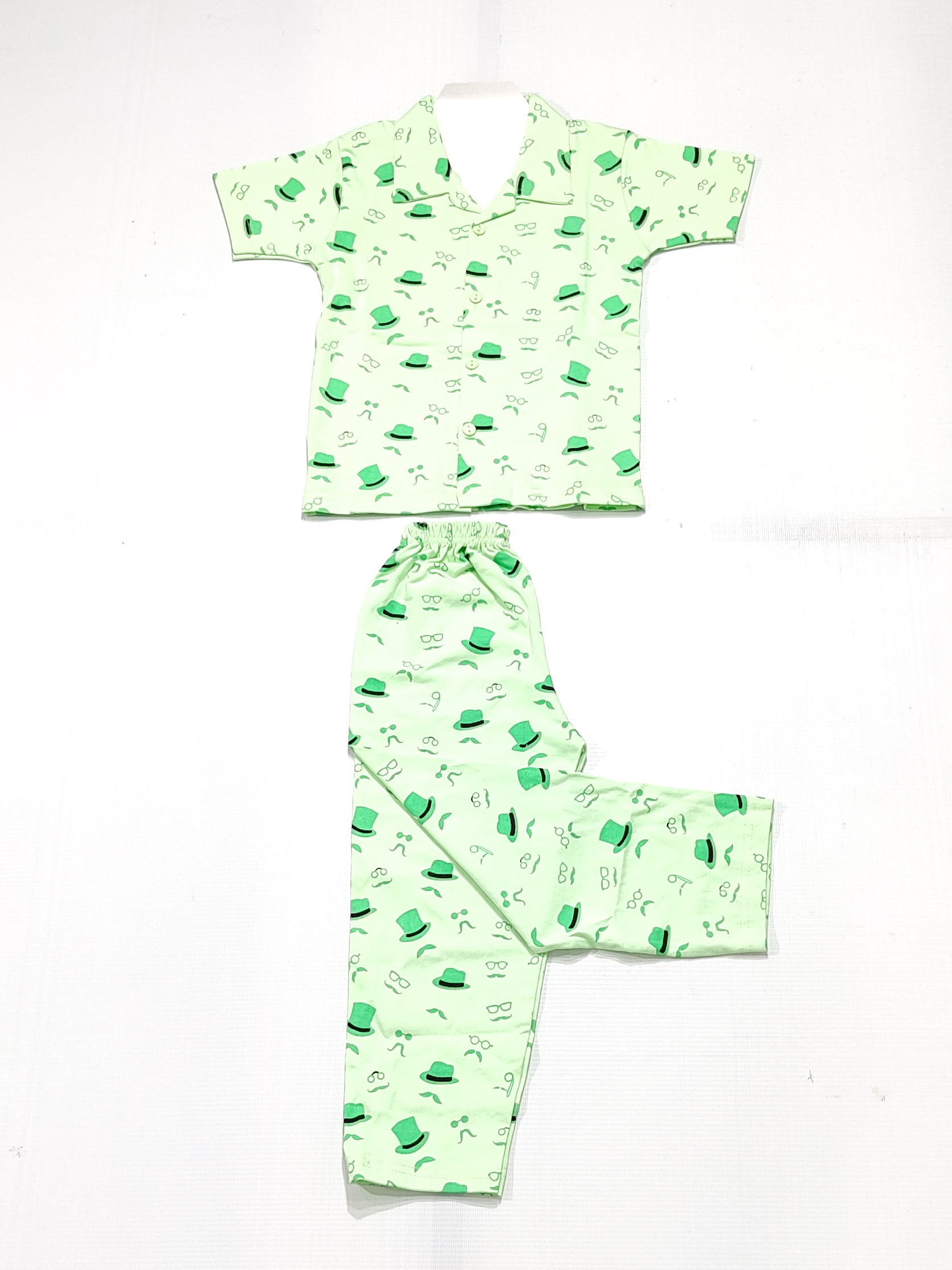 AAAKAR   Stylish Boy's Stylish Graphic Printed Shirt And Pyjama Set