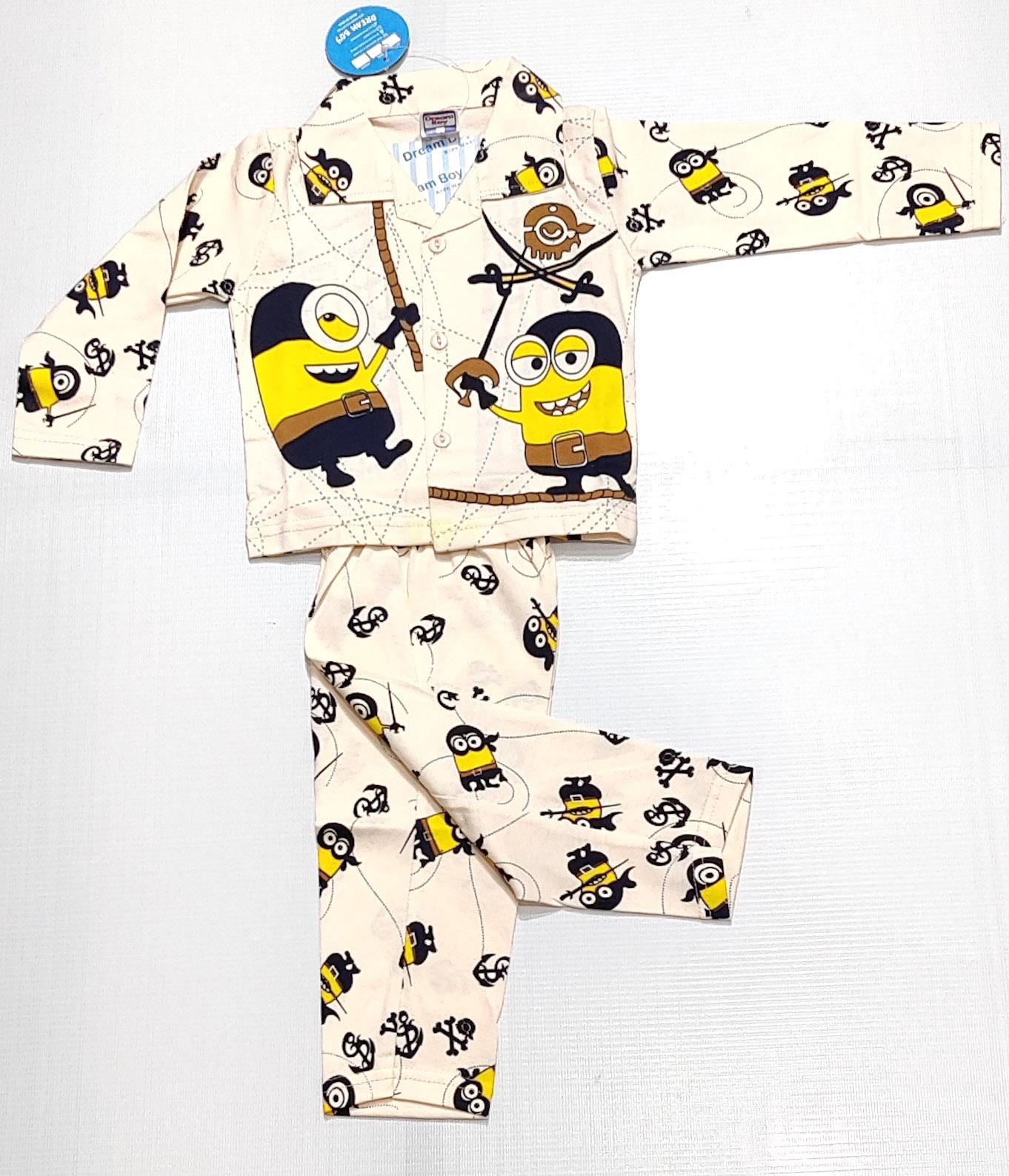 AAAKAR   Stylish Minions Printed Top and Pyjama Set