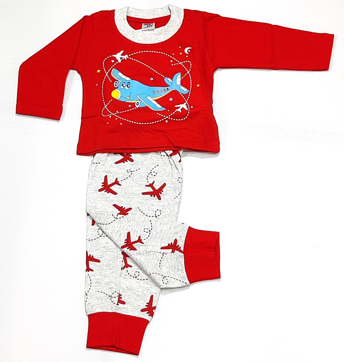 AAAKAR   Stylish Aeroplane Printed Full Sleeve T-Shirt And Pyjama Set