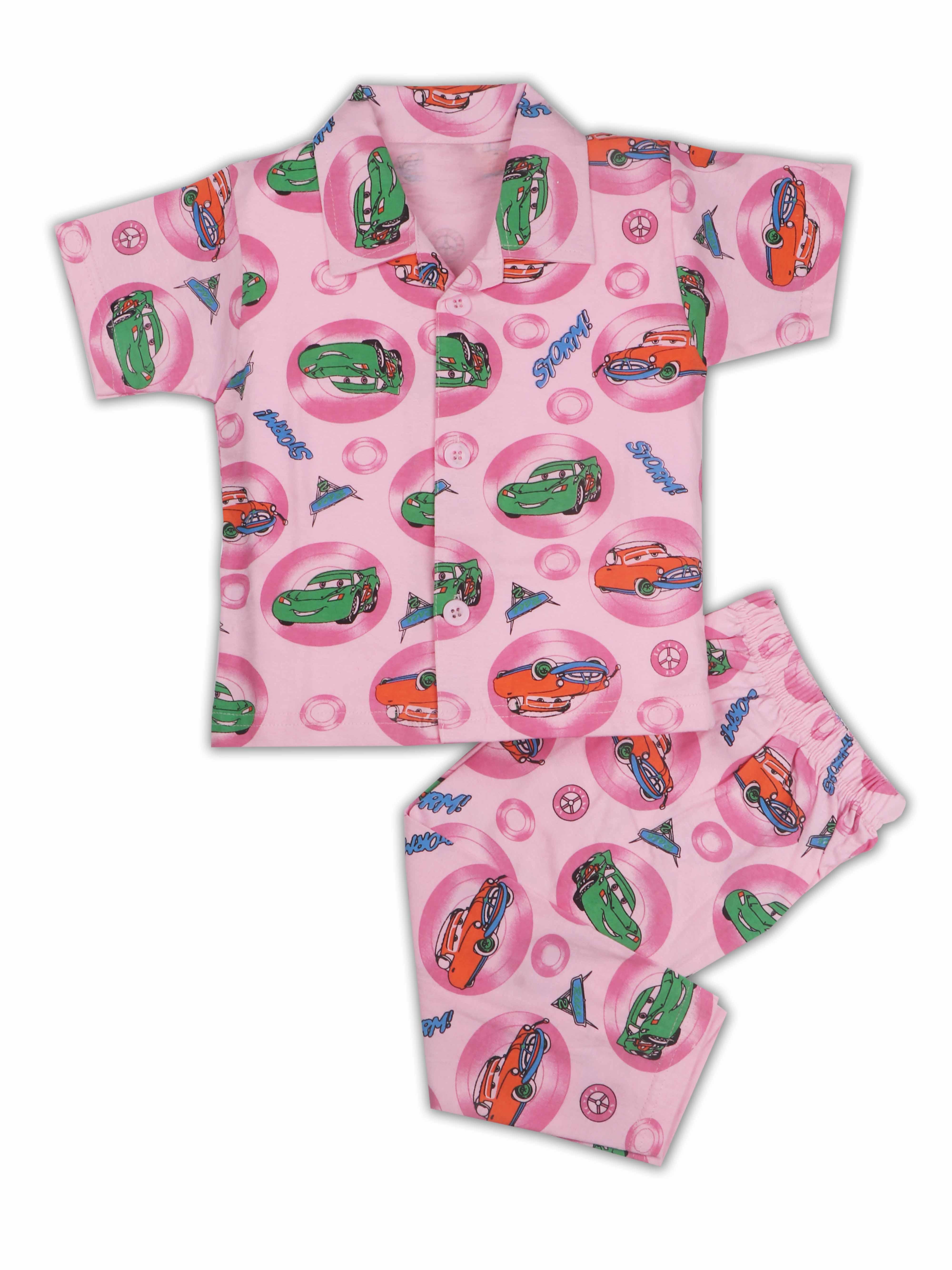 AAAKAR | AAAKAR Full Sleeves Night Suit All Over Print - Pink