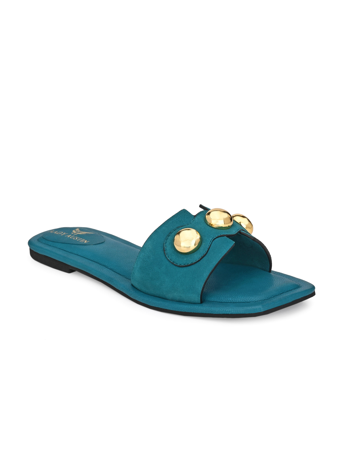 AADY AUSTIN | Aady Austin Women's Trendy Blue Square Toe Flats
