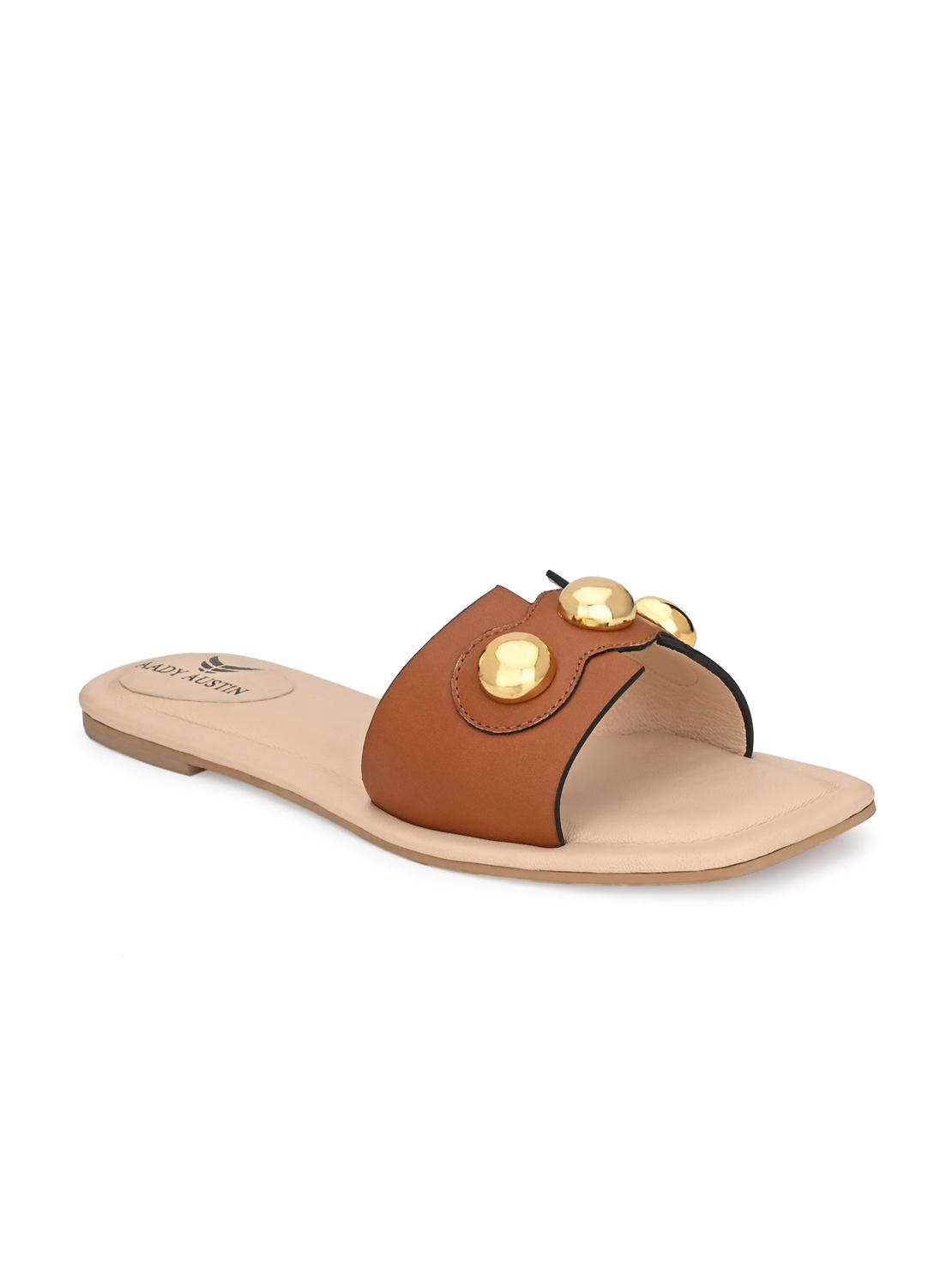 AADY AUSTIN | Aady Austin Women's Trendy Tan Square Toe Flats