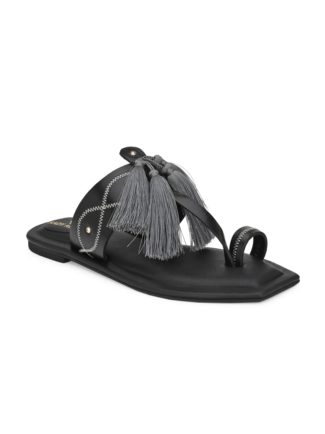 AADY AUSTIN   Aady Austin Women's Trendy Black Square Toe Flats