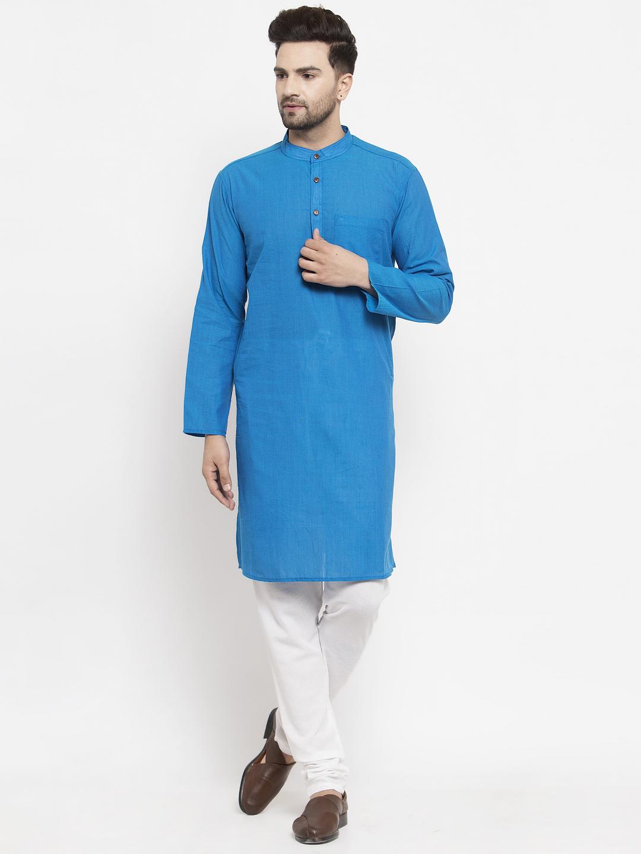 Abhiyuthan | Royle Blue Solid Long Kurta