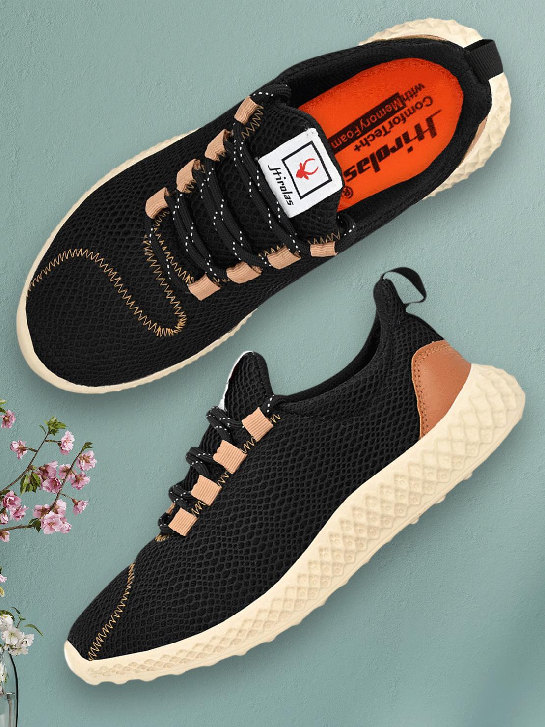 Hirolas | Hirolas® Men's Mesh Black Running/Walking/Gym/Jogging Sports Sneaker Shoes