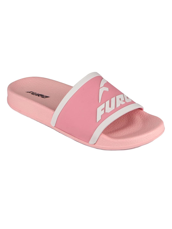 Furo | Furo White/Pink Flip-Flop For Women FWS010 161
