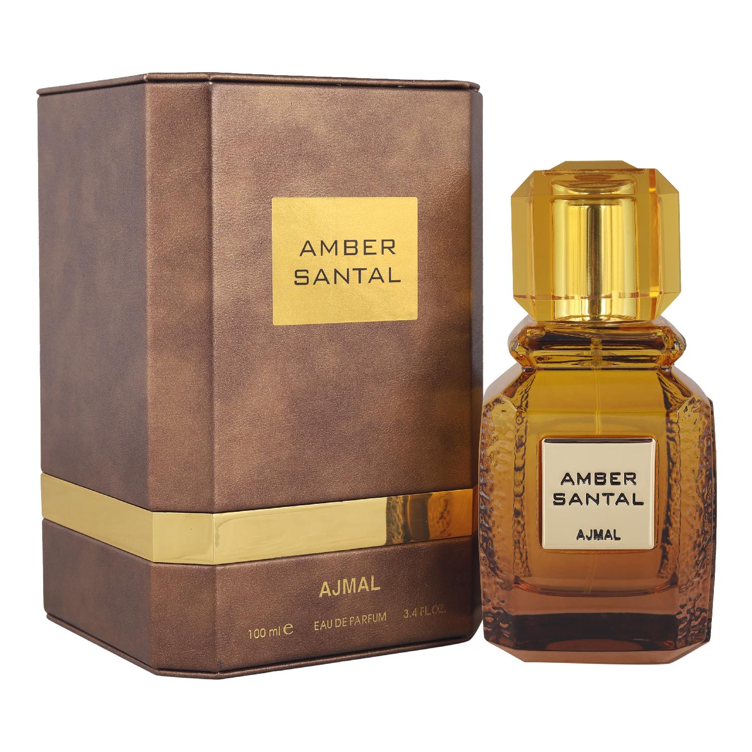 Ajmal | Ajmal Amber Santal Eau De Parfum 100ml Perfume for Men & Women + 2 Parfum Testers