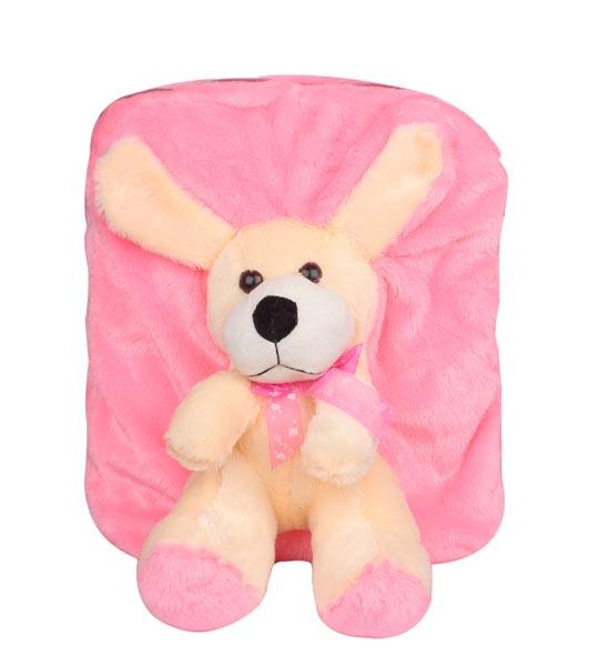 Aliado | Aliado Faux Fur Pink     Coloured Zipper Closure Backpack
